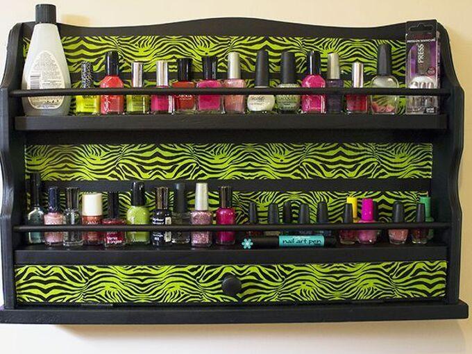 diy nail polish rack, repurposing upcycling, storage ideas