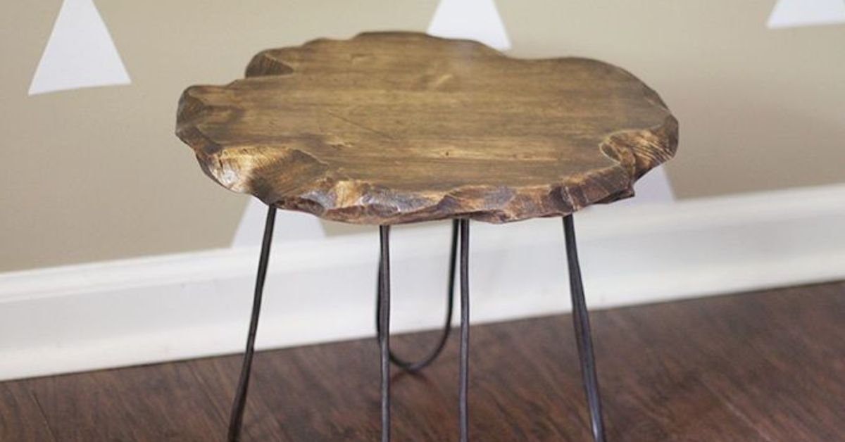 Small Rustic Stool With Diy Hairpin Style Legs No Welding