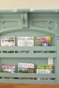 diy antique mantel becomes charming magazine rack, home decor, living room ideas, painted furniture, repurposing upcycling