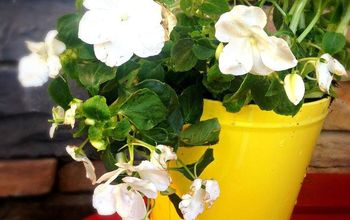 from a bug repellent candle to a cute flower pot, flowers, gardening, repurposing upcycling