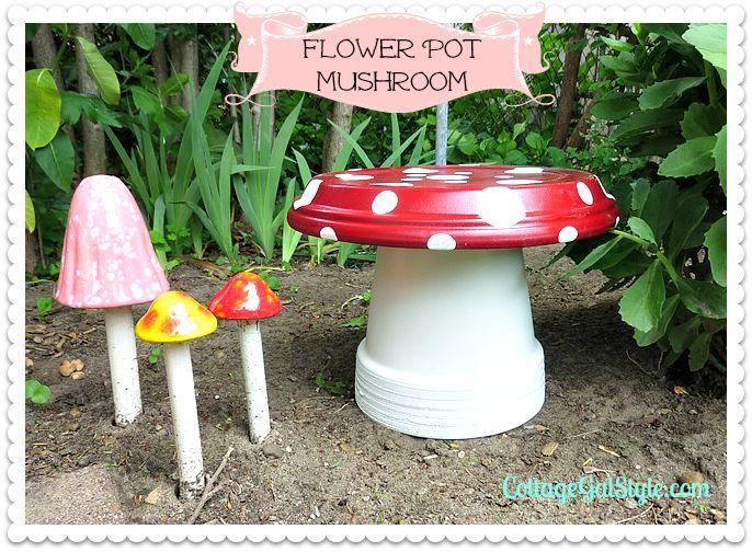 grow a flower pot mushroom, crafts, flowers, gardening