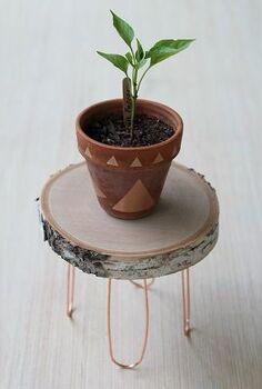 diy rustic modern plant stand, crafts, gardening, repurposing upcycling