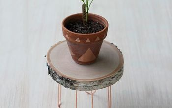 diy rustic modern plant stand, crafts, gardening, repurposing upcycling