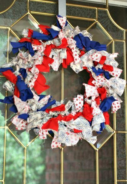 diy patriotic wreath, crafts, wreaths