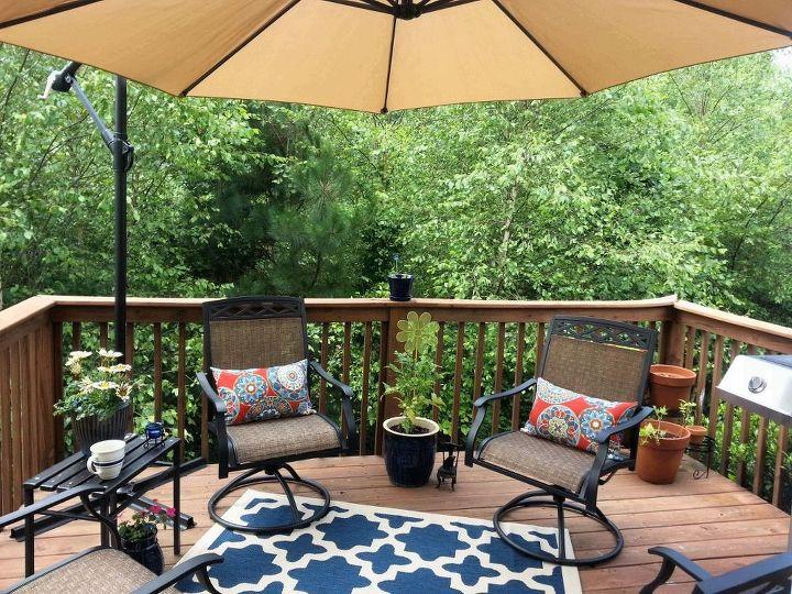 sad deck turned happy, decks, patio, Happy Deck