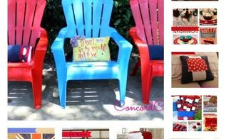4th of july round up all my projects here, fireplaces mantels, outdoor furniture, outdoor living, painted furniture, patriotic decor ideas, repurposing upcycling, seasonal holiday decor