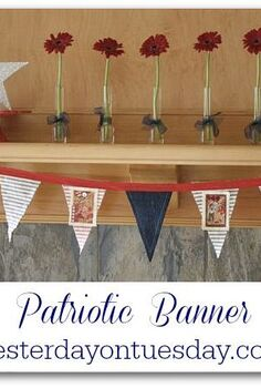 4th of july banner 4thofjuly, fireplaces mantels, patriotic decor ideas, seasonal holiday d cor
