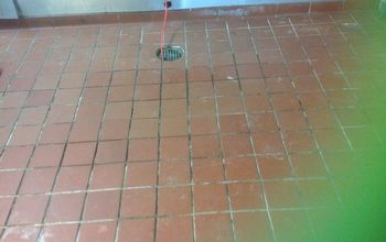 Commercial kitchen floor using Grout Shield color seal
