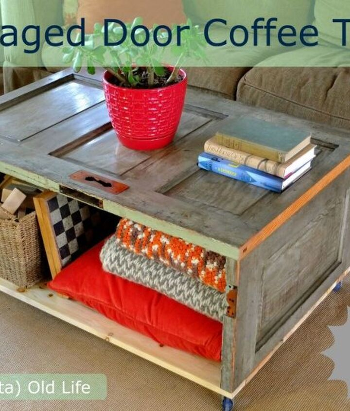 salvaged door repurposed into trash can screen, diy, gardening, how to, repurposing upcycling, woodworking projects