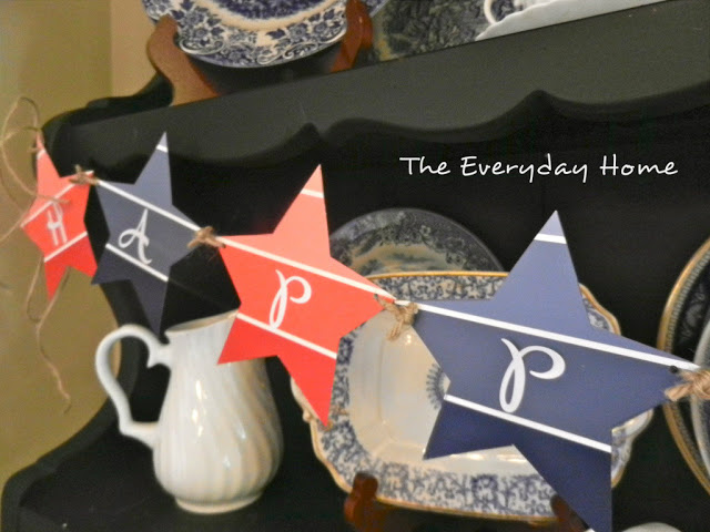 patriotic banner diy project fourth of july paint chip, crafts, patriotic decor ideas, seasonal holiday decor