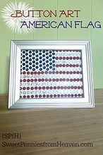 4th of july button art american flag craft and decor, crafts, patriotic decor ideas, seasonal holiday decor