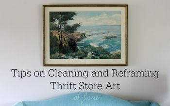 How to Clean and Reframe Thrift Store Art
