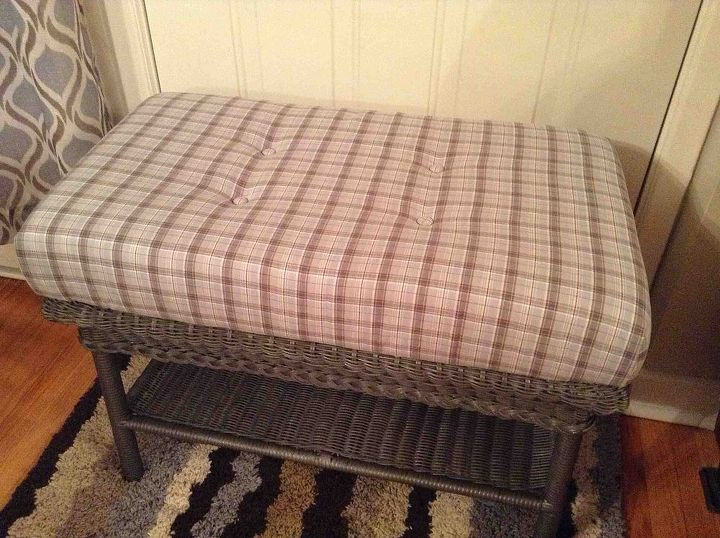 up cycling a wicker coffee table, painted furniture