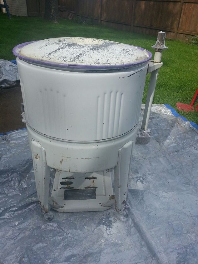 wringer washer re do, repurposing upcycling