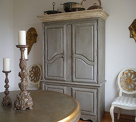 Marvelous french inspired armoire makeover painted furniture