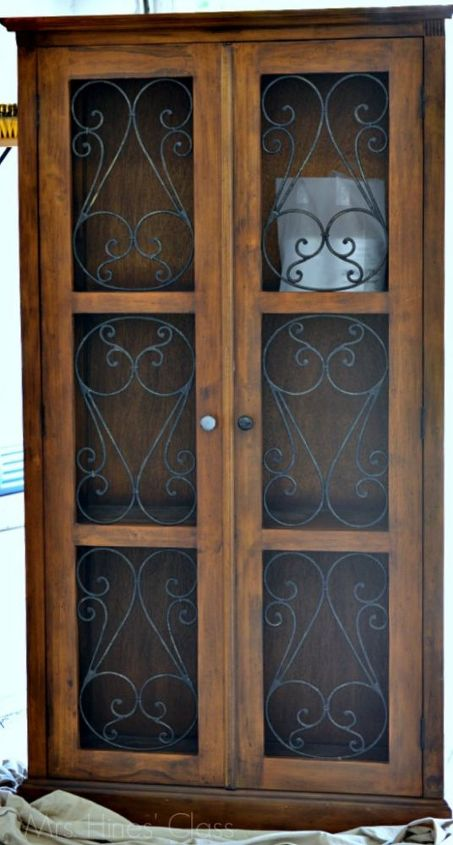 french inspired armoire makeover, painted furniture