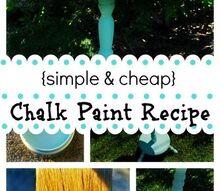 simple cheap diy chalk paint recipe project, chalk paint, painting