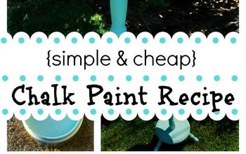 simple cheap diy chalk paint recipe project, chalk paint, painting