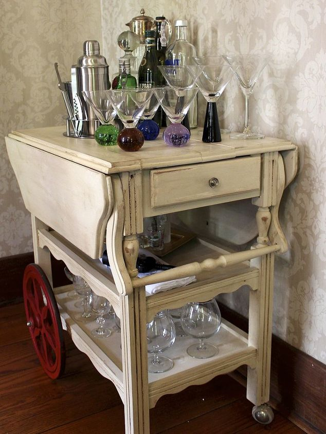 furniture upcycle tea cart diy, dining room ideas, home decor, painted furniture, repurposing upcycling
