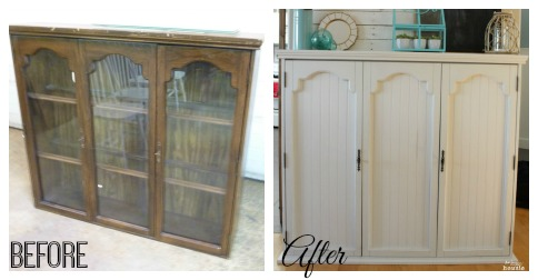 faux mantel from an old china hutch refab, chalk paint, fireplaces mantels, painted furniture, repurposing upcycling