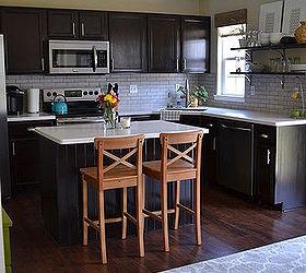 Attractive Kitchen Reveal Dark Cabinets Light Counters, Countertops, Home Improvement,  Kitchen Backsplash, Kitchen