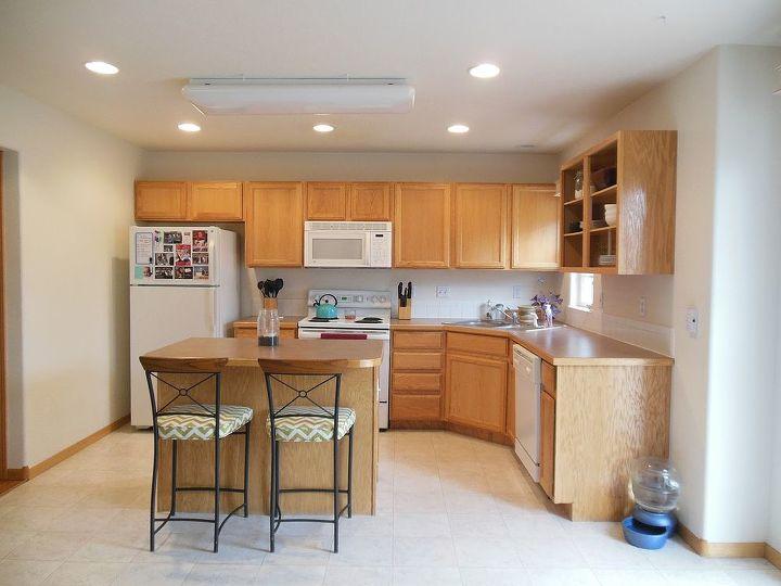 kitchen reveal dark cabinets light counters, countertops, home improvement, kitchen backsplash, kitchen cabinets, kitchen design, kitchen island