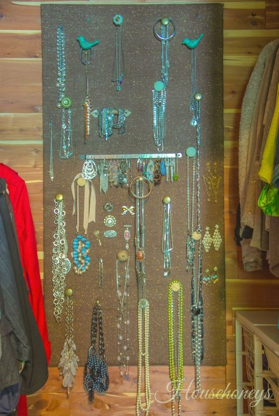 how i organized my jewelry, crafts, organizing