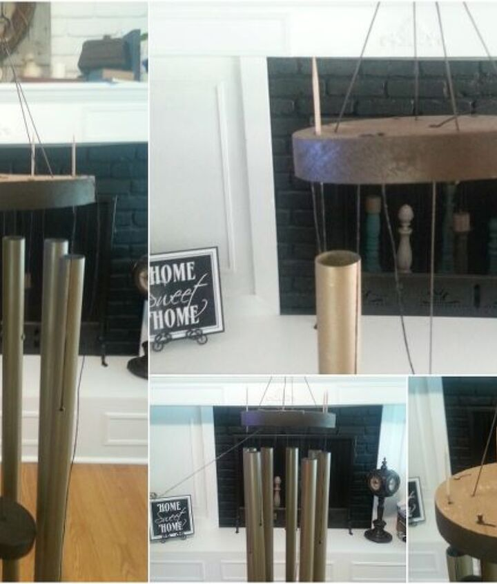 how to repair refresh and restring an old wind chime, repurposing upcycling