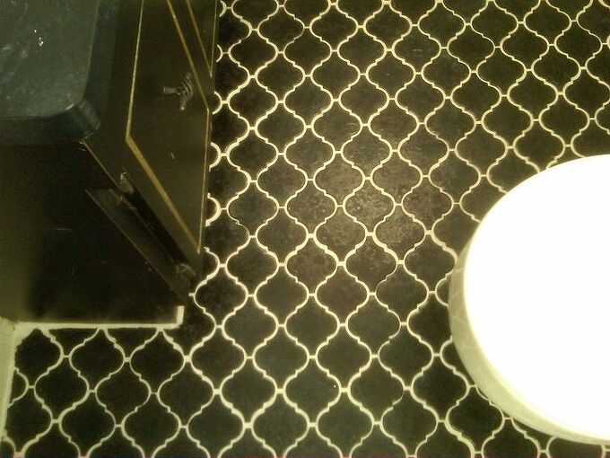 how to change the look of your tile grout for less then 30 dollars, cleaning tips, tiling, off set grout after appling grout shield