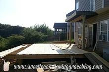 our huge new deck, decks, outdoor furniture, outdoor living, patio