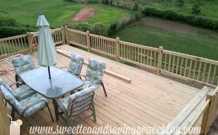 our huge new deck, decks, outdoor furniture, outdoor living, patio