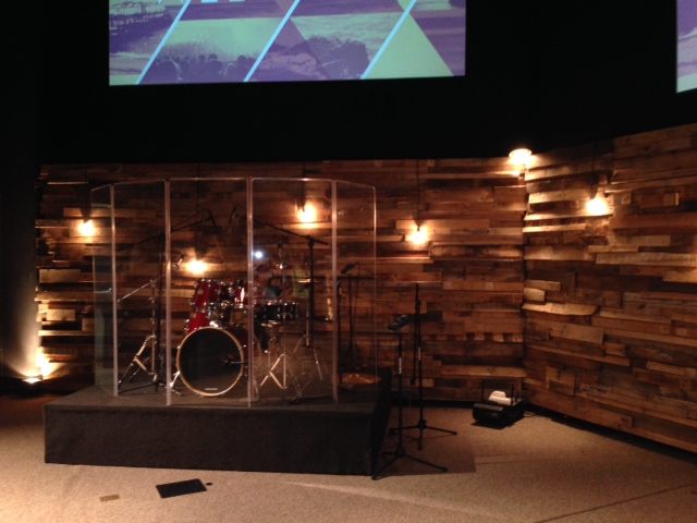 re purposed wood pallets for church worship stage, pallet, repurposing upcycling, woodworking projects