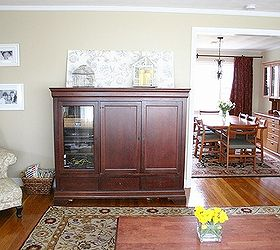 from tv armoire to built in kitchen banquette diy painted furniture repurposing upcycling