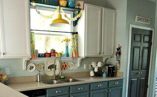 boring to blue kitchen makeover, diy, kitchen cabinets, kitchen design, painting