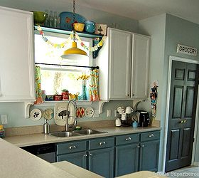 Ordinaire Boring To Blue Kitchen Makeover, Diy, Kitchen Cabinets, Kitchen Design,  Painting