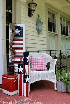 turn an old shutter into a fun 4th of july decoration, patriotic decor ideas, seasonal holiday d cor