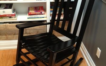 giving new life to a road side salvaged chair, painted furniture