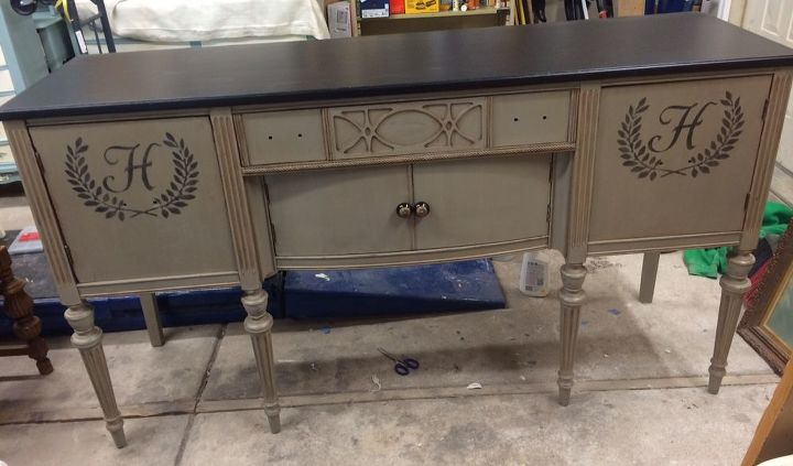 new life for antique buffet, painted furniture