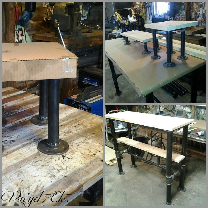 we built our son an industrial style desk check out how we did it, diy, painted furniture, repurposing upcycling, woodworking projects