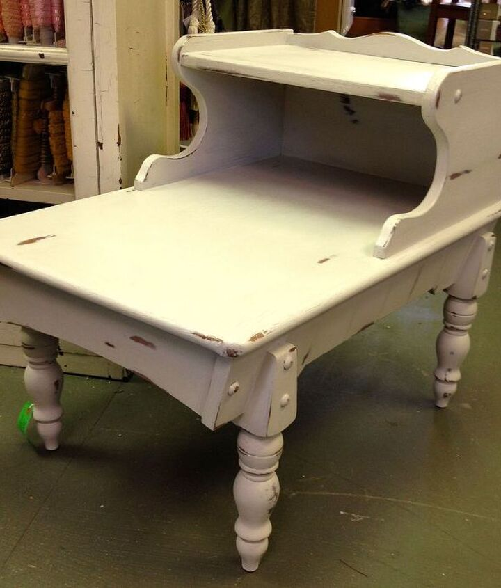 table transformation, painted furniture, shabby chic