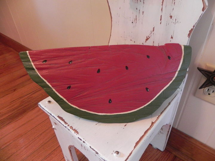 huge watermelon wood art, crafts, woodworking projects