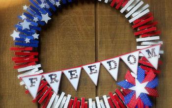 patriotic freedom wreath, crafts, patriotic decor ideas, seasonal holiday decor, wreaths