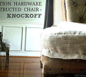 Restoration Hardware Deconstructed Chair Knockoff, Painted Furniture