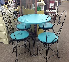 Ice Cream Parlor Set, Chalk Paint, Painted Furniture