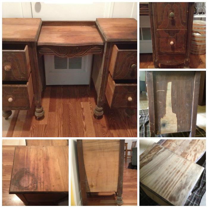 antique vanity makeover update, chalk paint, painted furniture - Antique Vanity Makeover (Update!) Hometalk