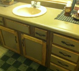 Painted Bathroom Countertop Before And After, Bathroom Ideas, Countertops,  Painting Leasa