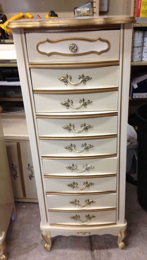 4 piece painted french provincial set, painted furniture