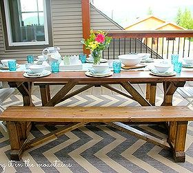 Diy Pottery Barn Knockoff Table Benches, Outdoor Furniture, Painted  Furniture ...