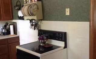 q small u shaped kitchen i need help please to make it more functional, kitchen cabinets, kitchen design, Pick moved the stove here trying for inspiration normally vintage cabinet is here