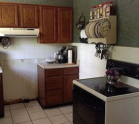 Tiny Cabinets And Counter Space. No Room For Microwave Above Stove.